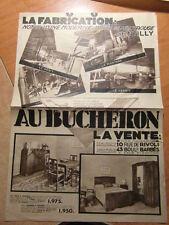Brochure Prospect AU BUCHERON Fabricant de Meubles ART DECO vers 1935