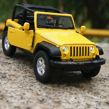 Jeep Wrangler 2007 Rubicon Yellow 1:32 Alloy Diecast Car Model Sound&Light gift