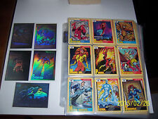 1991 Marvel universe card set complete with holograms and large checklist