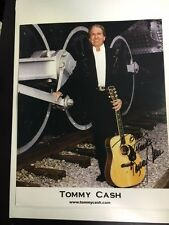 TOMMY CASH COUNTRY MUSIC SIGNED 8x10 COLOR PHOTO with COA