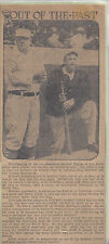 Vintage John McGraw & Christy Mathewson 1 page Article only