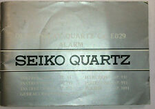 Vintage Seiko Duo-Display Cal. E029 Watch Manual