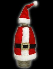 Luxury Father Christmas Wine Bottle Cover Santa Claus Coat & Hat Gift Wrap 54146