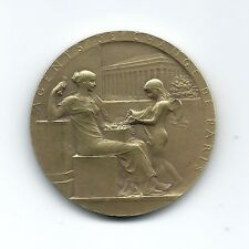 PARIS EXCHANGE TRADERS FRENCH ART NOUVEAU 1572-1898 / BRONZE MEDAL by ROTY / M50