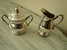 International Silver Co. CAMILLE Design Sugar & Creamer Set 6003~6004 Very Good