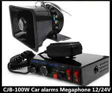 100W Loud Speaker PA Horn Siren System Mic Kit Police Car Fire Truck AAAA