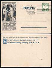 GERMANY BAVARIA 1906 NUREMBURG ILLUSTRATED POSTAL STATIONERY CARD