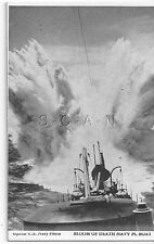 WWII Vendor Arcade / Mutoscope Card- US Warship- Depth Charges- Bloom of Death