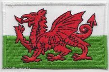 Wales Welsh Dragon Rectangular Embroidered Badge Patch