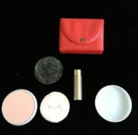 Vintage 1940's/50's COTY podwer lipstick in red case