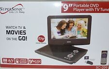 """Supersonic SC-259 A 9"""" Portable DVD Player With TV Tuner SC-259 Brand New"""