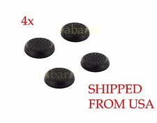4 Pcs Analog Controller Thumb Stick Grip Thumbstick Cap Cover For Sony PS4 Black
