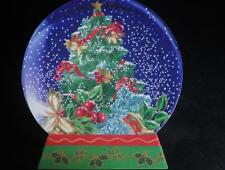 Wolfermans snow globe Christmas tree ornament storage box cookie container