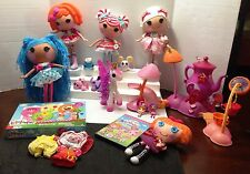 LALALOOPSY LOT OF DOLLS, MINIS, TEAPOT PLAYSET, PLUSH, DVD, GAME, & MORE