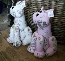 Quilted Cat Doorstop Pink or Cream - you are buying 1