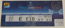 ticket for collectors CL final 2006 Paris FC Barcelona Arsenal FC Spain England