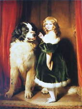 Sir Edwin Henry Landseer Girl with Newfoundland Dog