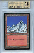 MTG Ice Age Snowcovered Mountain BGS 9.5 Gem Mint Magic Card WOTC 4853