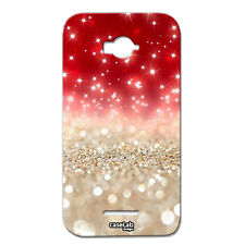 CUSTODIA COVER CASE STELLE LUCE BIANCO PER ALCATEL ONE TOUCH POP C7 7040D