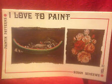 "Susan Scheewe ""I Love To Paint"" Vol. 11 Art Instruction Soft Cover Book 1979"
