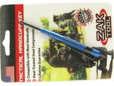 ZAK TOOL Blue ZT-13 Tactical ALUMINUM Handcuff Key w/ Pocket Clip! ZT13-BLU