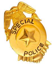 Polizeiabzeichen Special Police gold NEU - Zubehör Accessoire Karneval Fasching