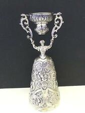 Figural LADY ANGEL Sterling Silver Wedding Bridal Marriage Wager Toasting Cup 8""