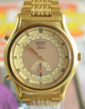 Vintage Mens Seiko Quartz Alarm Watch 8M15-8000 Beautiful Condition w/ Orig Band