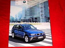 BMW X3 E83 2.5i 3.0i 3.0d Prospekt von 2004