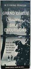 M/S VIKING PRINCESS CRUISE SHIP CARIBBEAN SHORE EXCURSIONS BROCHURE 1964 VINTAGE