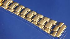 12mm Gold Plate over Stainless Watch Bracelet / Strap / Band - Adjustable Length