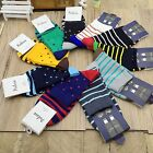 10 Pairs Lot Fashion Men's Dress Stripe Multi-Color Socks Size 10-12