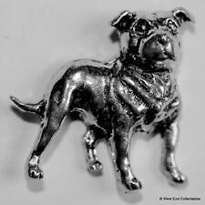 Staffordshire Bull Terrier Dog Pewter Pin Brooch -British Hand Crafted- Staffy