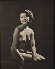 1950's VINTAGE Nude Asian Japanese Woman John Everard PHOTO Gravure PRINT c