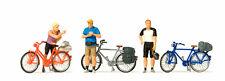 Preiser 10644 H0 Figure 1:87 Correlati Ciclisti in sport Abbigliamento NUOVO