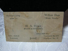 H.A. House Boats & Minnows Fishing  Business Vintage Card Vintage Tomahawk Wi