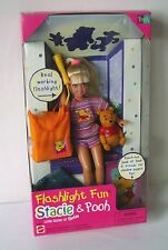 1997 Barbie Little Sister ~ Flashlight Fun Stacie & Pooh ~ NEW in Box