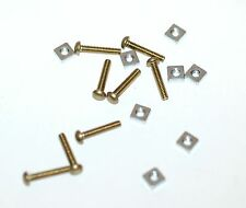 PULVER MACHINE SCREWS AND NUTS TO HOLD LOCK IN PLACE.