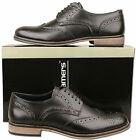Mens Brand New Black Lace Up Formal Leather Brogue Shoes Size 6 7 8 9 10 11 12