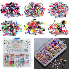 60Pcs Wholesale Lots Mixed Lip Piercing Body Jewelry Barbell Rings Tongue Ring H