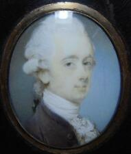 VERY FINE GEORGIAN PORTRAIT MINIATURE of a YOUNG GENTLEMAN by JEREMIAH MEYER