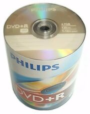 1000 PHILIPS Blank DVD+R Plus R Logo Branded 16X 4.7GB Media Disc EXPEDITED