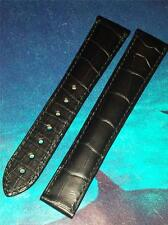OMEGA GENUINE FITS ANY 19mm WIDTH LUG BLACK ALLIGATOR 98000028 DEPLOYMENT STRAP