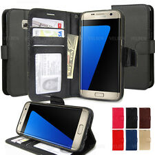 Slim fit Stand View Protective wallet leather case cover for iPhone Galaxy LG