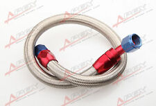"24"" 45 ° 10AN SS Braided Racing Performance Oil Fuel Coolant Line Hose Assembly"