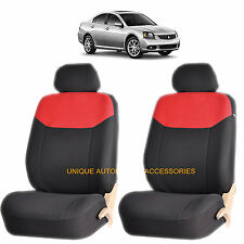 RED ELEGANT AIRBAG COMPATIBLE FRONT SEAT COVERS for MITSUBISHI GALANT ECLIPSE