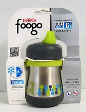 Thermos FOOGO Phases Stainless Steel Sippy Cup with Handles, 7 Ounce (NEW)
