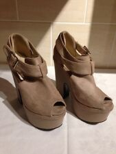 """Nude/Beige Platform Shoes Size 3 - Height 5"""""""