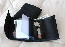 Men's Nylon Bifold hook & loop-Closure Wallet, with Key & Coin pocket, USA Made