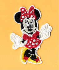 Minnie Mouse - Disney - Cartoon - Red & White Dots - Embroidered Iron On Patch